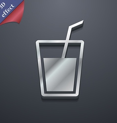 Soft drink icon symbol 3d style trendy modern vector