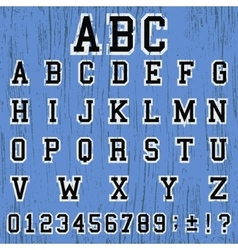 Alphabet vintage template vector