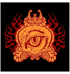 Abstract eye for tattoo design vector
