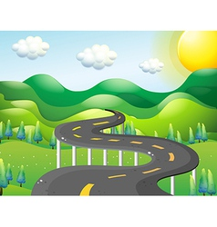 A very narrow road vector image