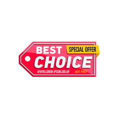 Best choice proposition isolated sticker vector