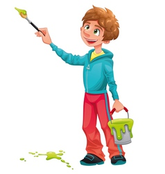 Boy painter vector image