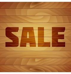 Burn Sale Tag on Wood Texture vector image