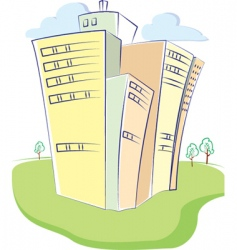 cartoon building vector image