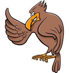 Cartoon eagle vector
