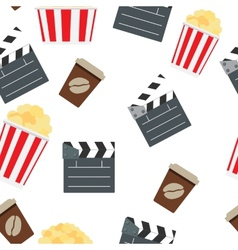 Cinema Seamless Pattern Background vector image