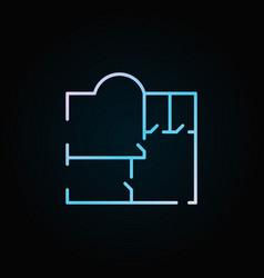Colorful floor plan icon vector