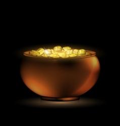 Dark pot of gold vector