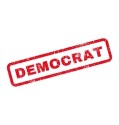 Democrat text rubber stamp vector