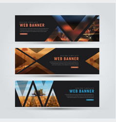 design of black horizontal web banners vector image