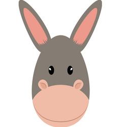 Donkey animal cartoon vector