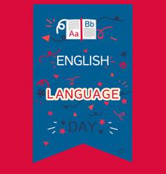 English language day banner vector