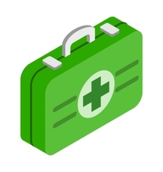 First aid kit 3d isometric icon vector image vector image