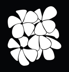 frangipani silhouettes for design vector image vector image