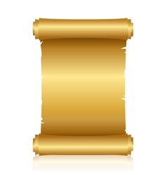 gold shiny scroll vector image vector image