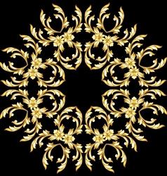 Golden flower pattern vector image