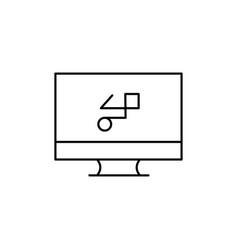 graphic design icon vector image