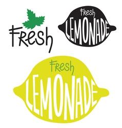 Lemonade label design vector