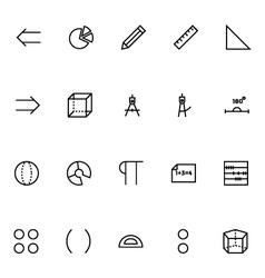 Mathematics icons 3 vector