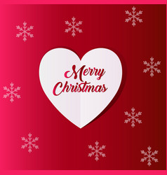 New year and christmas background with heart vector