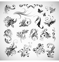 Ornament Flowers Vintage Design Elements vector image