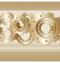 pattern with horizontal band of cogwheels vector image