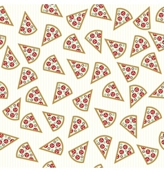 pizza slices seamless pattern vector image vector image