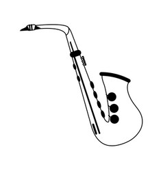 Saxophone musical instrument icon image vector