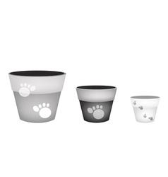 Set of terracotta flower pots on white background vector