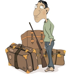 The traveler cartoon vector image vector image