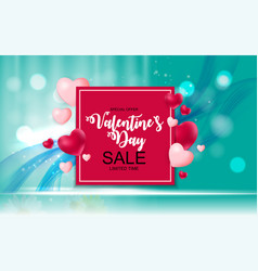 Valentines day sale discount card vector