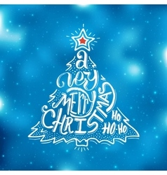 Very Merry Christmas typography Greeting card vector image