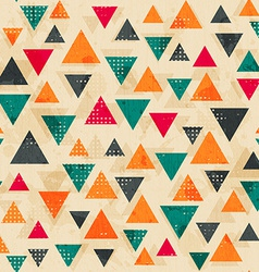 vintage colored triangle pattern with grunge vector image