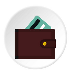 wallet with credit cards icon circle vector image