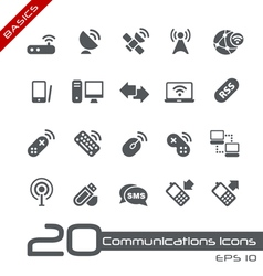 Wireless Communications Basics Series vector image vector image