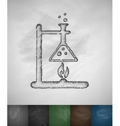 Bunsen burner icon vector