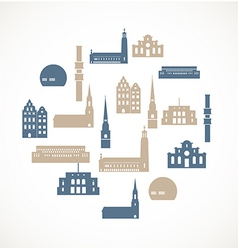 Landmark icons - stockholm vector