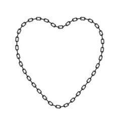 dark chain in shape of heart vector image