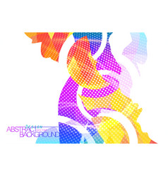 Abstract colorful shape scene on a white vector