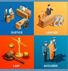 Justice isometric design concept vector
