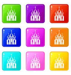 Church building set 9 vector