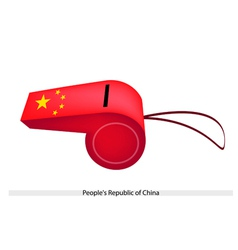 A whistle of peoples republic of china vector