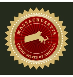Star label massachusetts vector