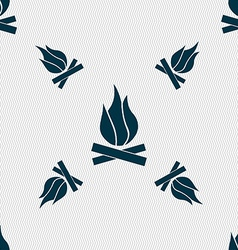 A fire icon sign seamless pattern with geometric vector