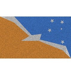 Flags of tierra del fuego province on denim vector