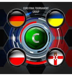 European flag buttons c vector