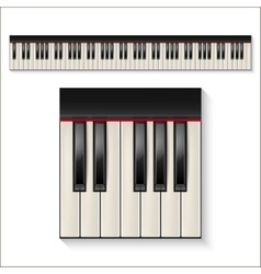 piano keys set vector image