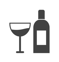 Goblet and wine vector