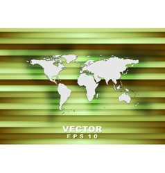Abstract world map tech background vector image vector image
