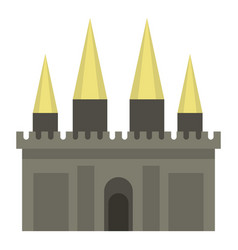 Ancient castle palace icon isolated vector